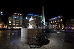Dam Square at night,